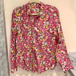 Anthropologie Holding Horses pink floral blouse